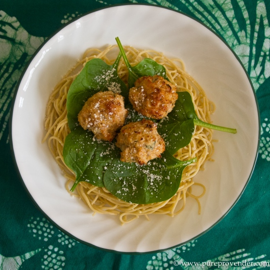 Bowl of Chicken Sage Meatballs