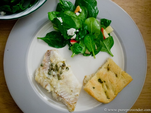 Cod and Spinach Salad